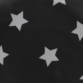 Tissu déperlant nano-tex Stars - noir/gris x 10cm