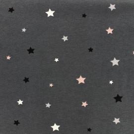 Tissu Jersey Pinky grey - Stars x 10 cm