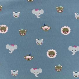 Tissu Jersey Cute animals - bleu x 10 cm