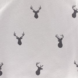 Tissu Jersey My Deer - taupe x 10 cm