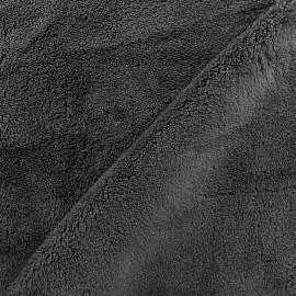 Tissu Piloudou uni - gris foncé x 10cm