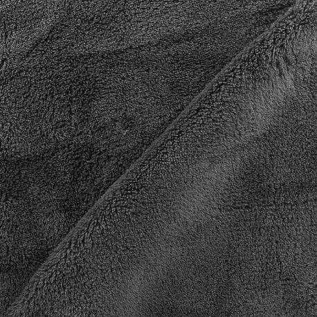 Plain Piloudou fabric - dark grey x 10cm