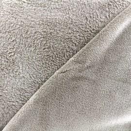 Tissu Piloudou uni - taupe x 10cm