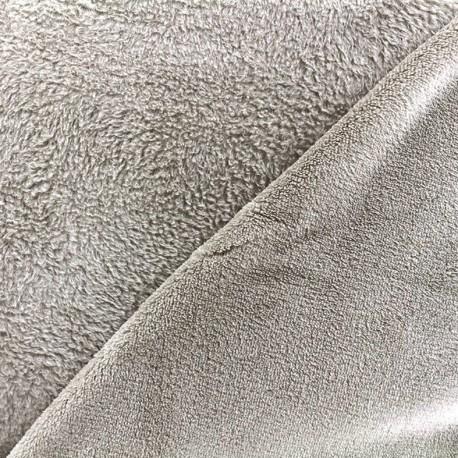 Plain Piloudou fabric - taupe x 10cm