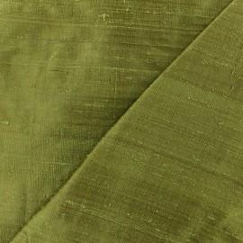 Tissu soie sauvage - vert véronèse x 10cm