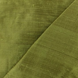 Wild Silk Fabric - véronèse green x 10cm