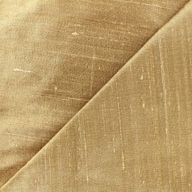 Wild Silk Fabric - light beige x 10cm