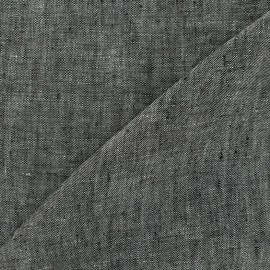 Tissu chambray 100% lin - gris x 10cm