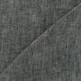 Tissu Chambray lin - gris x 10cm