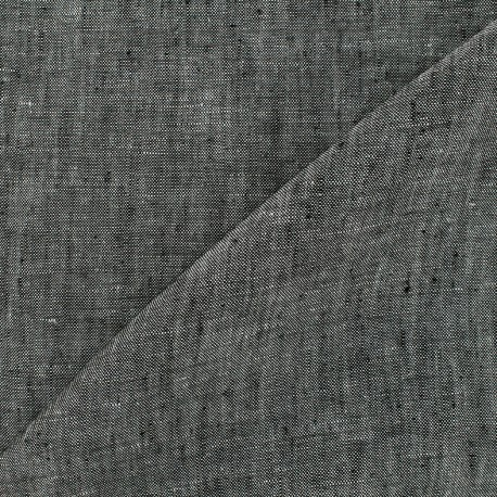 Chambray linen fabric - grey x 10cm