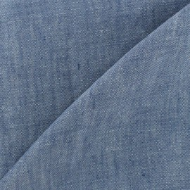 Chambray linen fabric - blue x 10cm