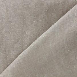 Tissu chambray 100% lin - beige clair x 10cm