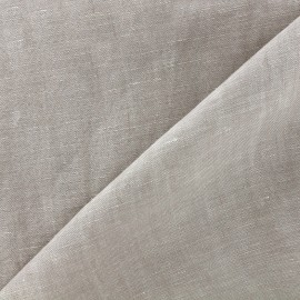 Chambray linen fabric - light grège x 10cm