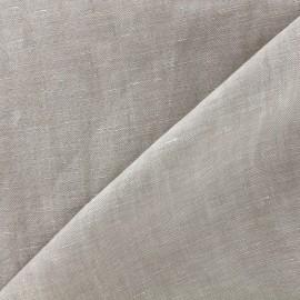 Tissu chambray 100% lin - grège clair x 10cm