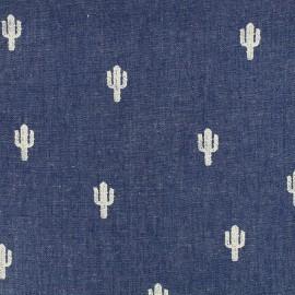 Tissu Jeans fluide Cactus - bleu foncé x 10cm