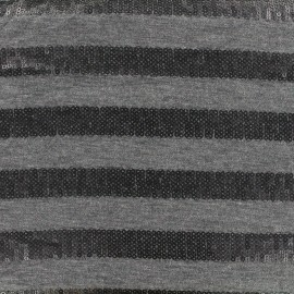 Tissu Jersey Sparkle lines - anthracite x 10 cm