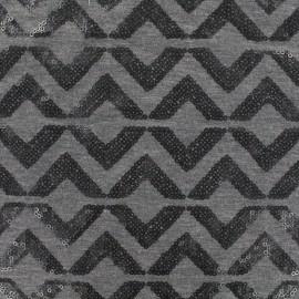♥ Coupon tissu 110 cm X 140 cm ♥ Jersey Sparkle graphik - anthracite