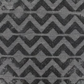 Jersey Fabric Sparkle graphik - anthracite x 10 cm