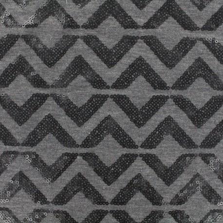 Jersey Fabric Sparkle graphik - anthracite x 10 cm