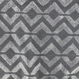 Jersey Fabric Sparkle graphik - grey x 10 cm