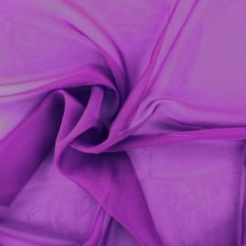 Tissu mousseline touché soie - violet x 50cm