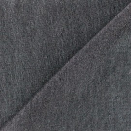 Viscose chambray fabric Denim - black x 10cm
