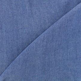 Tissu viscose chambray denim - bleu x 10cm