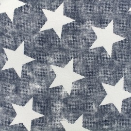 Tissu sweat envers minkee used Stars - bleu x 10cm