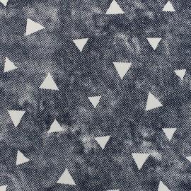 Mocked sweat with minkee reverse side fabric used Delta - blue x 10cm