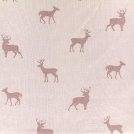 Tissu Jersey My Deer - rose x 10 cm