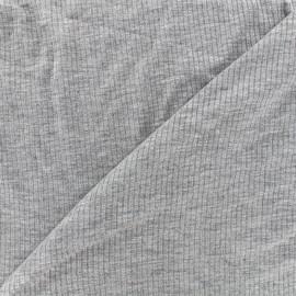 Stitched marcel jersey fabric - grey x 10cm
