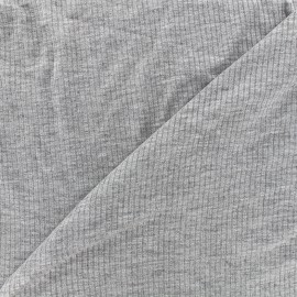 Tissu jersey maille marcel - gris x 10cm