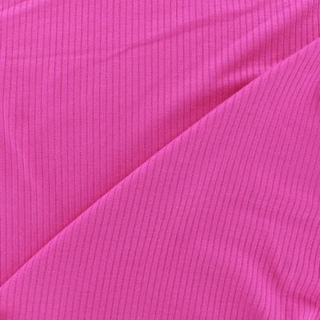 Tissu jersey maille marcel - fuchsia 10cm