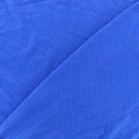 Stitched marcel jersey fabric - royal blue x 10cm