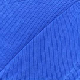 Tissu jersey maille marcel - bleu roi x 10cm