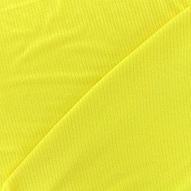 Stitched marcel jersey fabric - yellow x 10cm