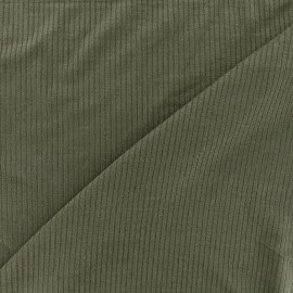 Stitched marcel jersey fabric - khaki x 10cm