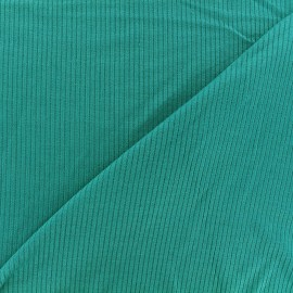 Stitched marcel jersey fabric - petrol x 10cm