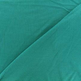 Tissu jersey maille marcel - pétrole x 10cm