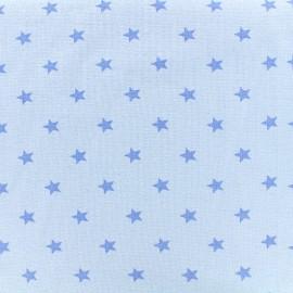 Jersey tubulaire bord-côte 1/1 Stars - bleu clair x 10cm