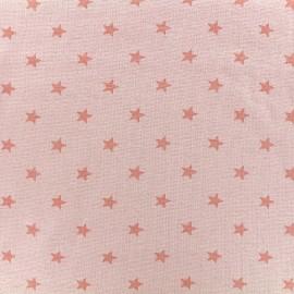 Jersey tubulaire bord-côte 1/1 Stars - pêche x 10cm