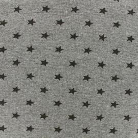 Jersey tubulaire bord-côte 1/1 Stars - gris chiné x 10cm
