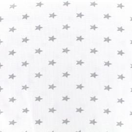 Jersey tubulaire bord-côte 1/1 Stars - blanc optique x 10cm