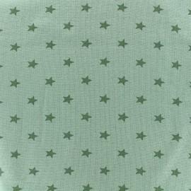 Jersey tubulaire bord-côte 1/1 Stars - vert sauge x 10cm