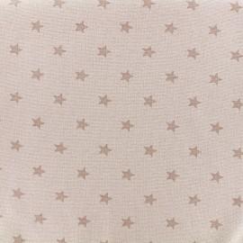 Jersey tubulaire bord-côte 1/1 Stars - sable x 10cm