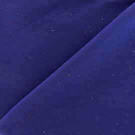 Flecked sweat fabric - royal blue x 10cm