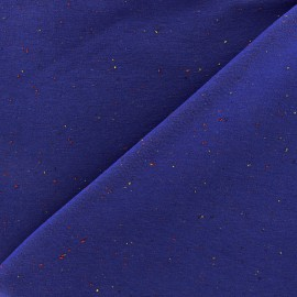 Tissu sweat moucheté - bleu roi x 10cm