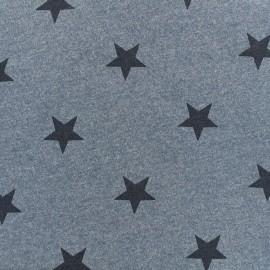 Tissu sweat Etoile - bleu x 10cm