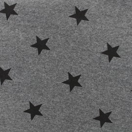 Sweat fabric Etoile - anthracite x 10cm