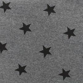 Tissu sweat Etoile - anthracite x 10cm
